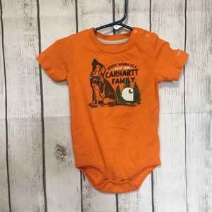 Carhartt Bodysuit Toddler Baby 18 Mo Orange